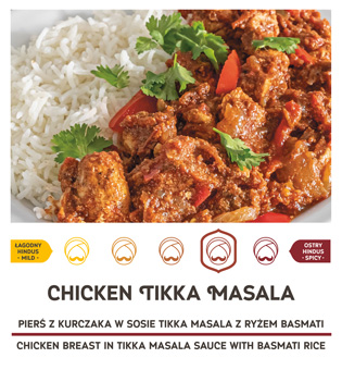 Ostry i smaczny chicken tikka masala